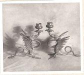 Ismeretlen: Két gyertyatartó - XIX. század